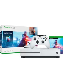 Xbox One S 1 Tb Battlefield V Bundle With 4 K Ultra Hd Blu Ray   White by Microsoft