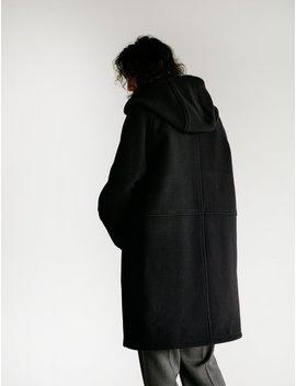 Our Legacy Felt Duffle Cocoon Wool Coat   Black by Garmentory
