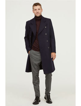 Two Row Wool Blend Coat by H&M