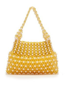 Quinn Faux Pearl And Bead Embellished Bag by Shrimps