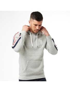 U.S. Polo Assn. Mens Boris Hoody Grey Marl by U.S. Polo Assn.