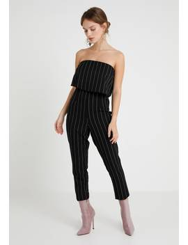 Stripe Bandeau Double Layer   Jumpsuit by Missguided Petite