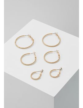 Onlfina 3 Pack Creol Earrings    Øredobber   Gold by Only