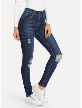Knee Rips Jeans by Sheinside