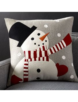 "Snowman Pillow 23"" by Crate&Barrel"