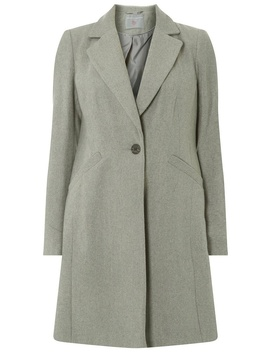 Petite Grey Button Coat by Dorothy Perkins