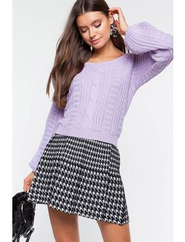 Anessa Cable Sweater by A'gaci