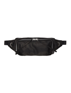 Black Oiled Leather Body Bag by Diet Butcher Slim Skin