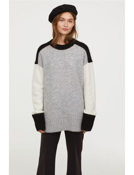 Oversize Pullover In Mohairmix by H&M