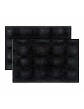 "Tebery Black Mat 18"" X 12"" Rubber Bar Service Spill Mat ( 2 Pack ) by Tebery"