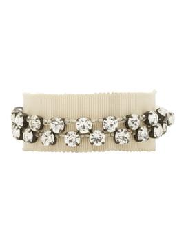 Bracelet Beige Stone Glass & Beads by Ann Demeulemeester