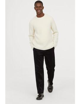Sztruksowe Spodnie Z Bawełny by H&M