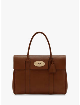 Mulberry Bayswater Heritage Grain Veg Tanned Leather Handbag, Oak by Mulberry