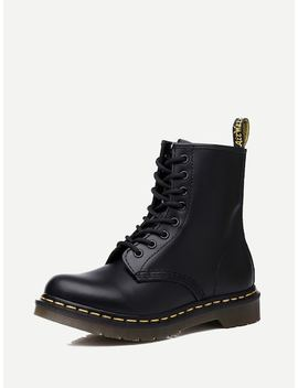Men Lace Up Martin Boots by Sheinside
