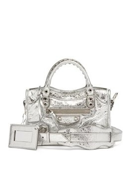 Classic City Mini Metallic Leather Bag by Balenciaga