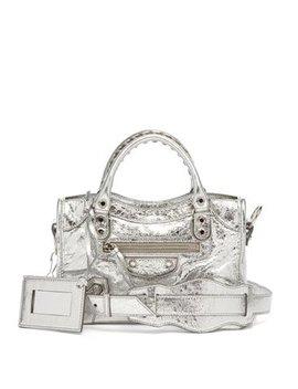 Classic City Mini Metallic Leather Bag by Balenciaga