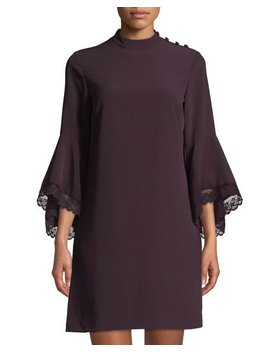 Bell Sleeve Crepe Sheath Dress by Tahari Asl
