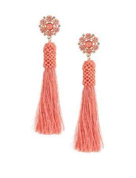 Tassel Drop Earrings by Etereo
