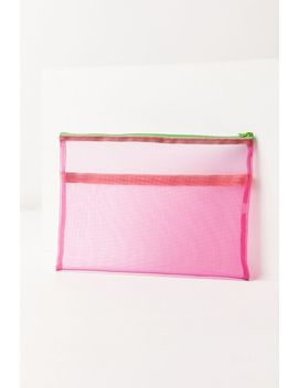 Colorblock Mesh Pouch by Urban Outfitters