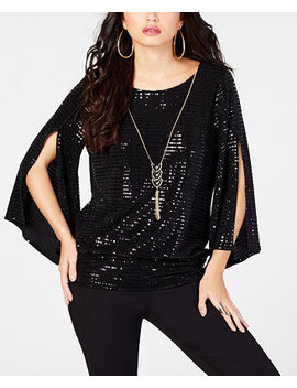 Sequined Necklace Top, Created For Macy's by Thalia Sodi