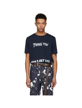 T Shirt Blanc Cassé Perfect 'thank You Have A Nice Day' by 3.1 Phillip Lim