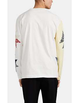 Patchwork Quilt Cotton Jersey T Shirt by Calvin Klein 205 W39 Nyc