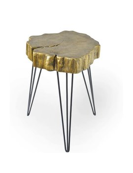 Ivy Bronx Buzzard Rustic Crosscut Tree End Table & Reviews by Ivy Bronx
