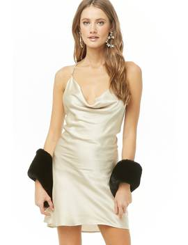 Satin Chain Strap Mini Dress by Forever 21