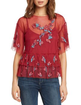 Embroidered Ruffle Top by Willow & Clay