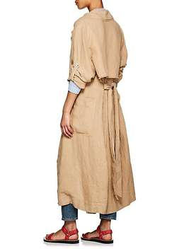 Linen Trench Coat by Raquel Allegra