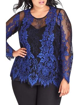 Electric Lace Blouse by City Chic