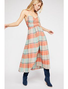 Donna Plaid Maxi Dress by Free People
