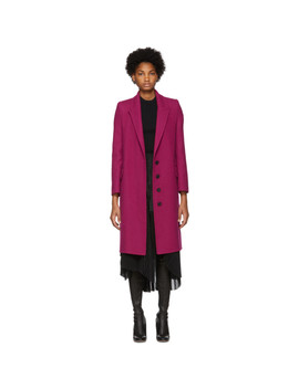 Pink Wool & Cashmere Coat by Alexander Mcqueen
