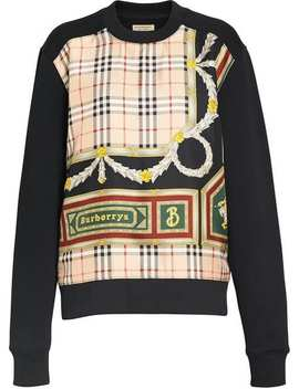 Archive Scarf Print Panel Sweatshirt by Burberry