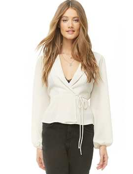 Crepe Surplice Top by Forever 21