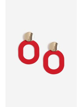 **Oval Link Drop Earrings by Topshop