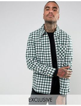 Reclaimed Vintage Inspired Coach Shirt In Check by Reclaimed Vintage