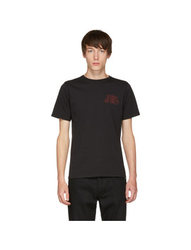Black Condensed Wave T Shirt by Saturdays Nyc