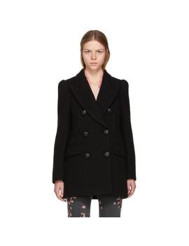 Black Short Lea Coat by Isabel Marant