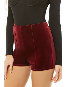 Velvet High Rise Shorts by Forever 21
