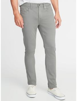 Slim Built In Warm Five Pocket Twill Pants For Men by Old Navy
