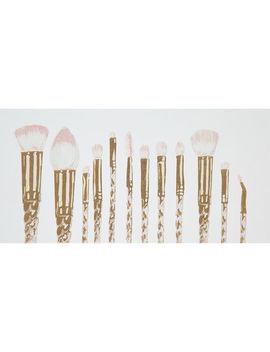 Gold Unicorn Make Up Brushes Canvas 50x25cm by