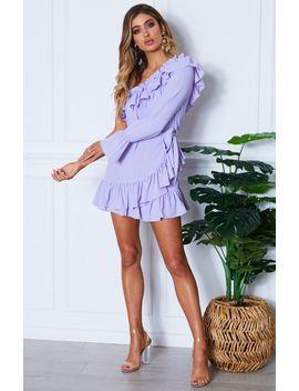 Parisian One Shoulder Dress Lilac by White Fox