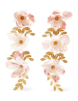 Gaby Gold Vermeil And Silk Earrings by Mallarino