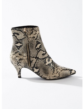 Brandy Grey Kitten Heel Boots by Miss Selfridge