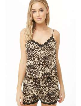 Leopard Pajama Cami & Shorts Set by Forever 21