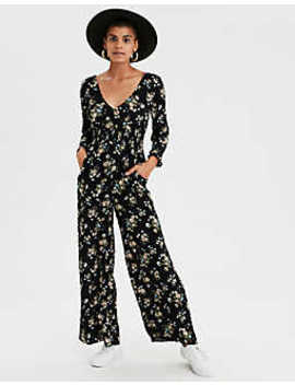 Ae Wrap Front Maxi Jumpsuit by American Eagle Outfitters