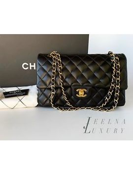 Auth Chanel Black 2.55 Medium M/L Classic Double Flap Bag *Excellent* by Chanel