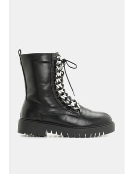 Kendall & Kylie Braided Chain Combat Boots by Ardene