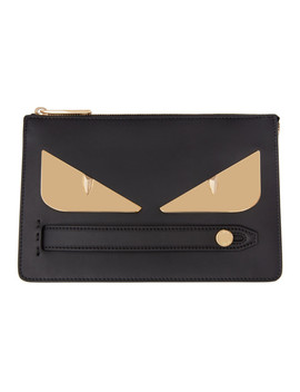 Black & Gold Small 'bag Bugs' Pouch by Fendi
